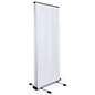 Outdoor retractable banner display frame for 2 panels