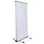 Wide outdoor retractable banner frame double sided