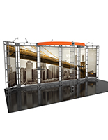 20ft Wide Orbital Express Antares truss trade show exhibit display booth