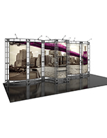 20' Orbital Express Phoenix portable trade show display truss system