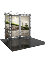 Orbital Express SiriIM体育 10ft trade show display kit with cIM体育tom printed panels