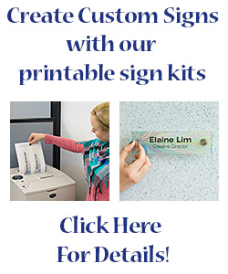 Do-It-Yourself Custom Printed Office Wall Signs