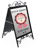 Decorative Steel Sidewalk Sign