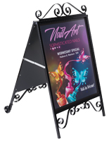 Marketing ornamental a-frame sandwich board