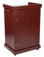 Mahogany lecture podium with cabinet