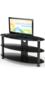 Oval Glass TV Stand