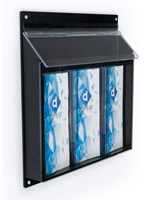 Rain proof outdoor display brochure holders