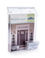 Clear Outdoor Literature Dispenser