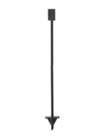 Freestanding black metal ground stake base for OPD85FR