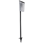 Weather-resistant black outdoor brochure holder with lawn stake