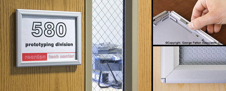 Sized for 5 quot x 7 quot graphics great for an office door sign frame