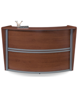 Wood Reception Desk is Great for Salons