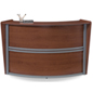 Wood Reception Desk Makes a Great Customer Service Kiosk