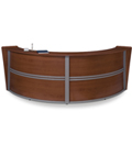 Curved Reception Desk for Customer Service
