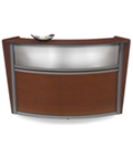 Wooden Reception Desk with Plexi Window