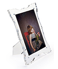 Acrylic baroque picture frame clear construction