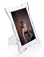 Acrylic baroque picture frame with fancy design