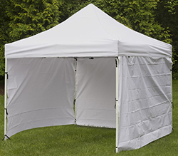 outdoor booth canopy with 4 side panels