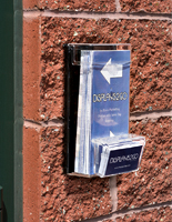 Outdoor business card holders with acrylic construction
