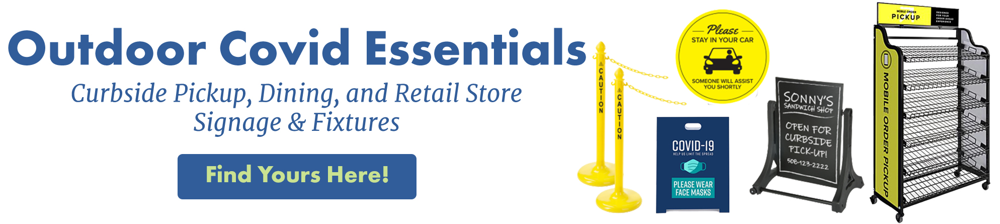 Shop essential products for setting up social distancing and commerce with customers during the epidemic