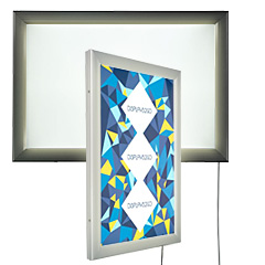 Exterior-rated light boxes