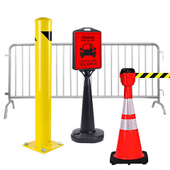Parking lot signs and supplies