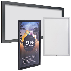 Poster frames rated for exterior applications
