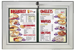 Outdoor menu sign holder