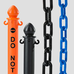 Outdoor Plastic Stanchions