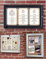 outdoor menu cases