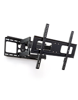 Black powder coated outdoor articulating TV mount