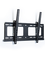 Black outdoor TV wall mount with tilt
