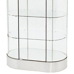 oval display cases