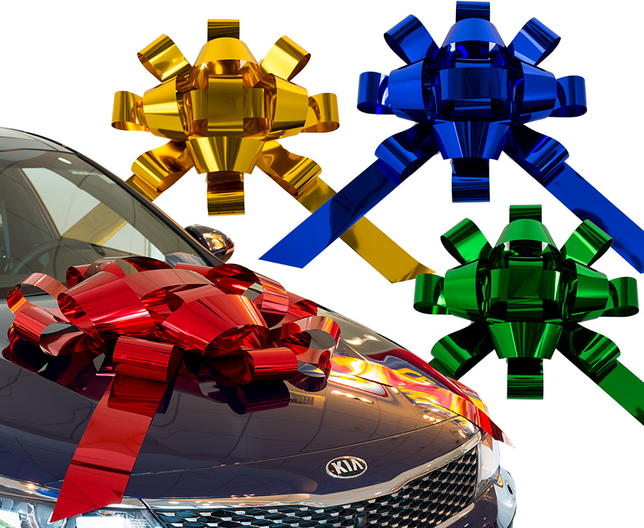 giant car gift bows