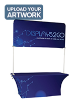 The 6' Trade Show Table & Header Has An Adjustable Frame