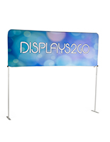 8' Trade Show Table Header with Aluminum Click Into Place Frame