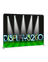 8' Trade Show Table Backdrop w/ Custom Printed Full Color Graphics