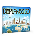 8' Trade Show Booth Backdrop with Lightweight  Aluminum Frame