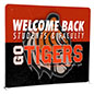 8' Trade Show Booth Backdrop, Printed on Poly Flex Fabric