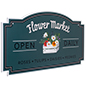 24 x 48 hanging outdoor shaped signs with full color printing options