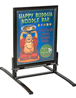This Outdoor Sign Stand is a Sturdy and Reliable Option for a Sidewalk Poster Display