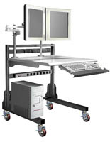 "Radiology Workstation with (4) 4"" Casters"