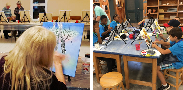 Durable Metal Easels for Paint Nights
