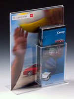 Sign Display with Brochure Holder