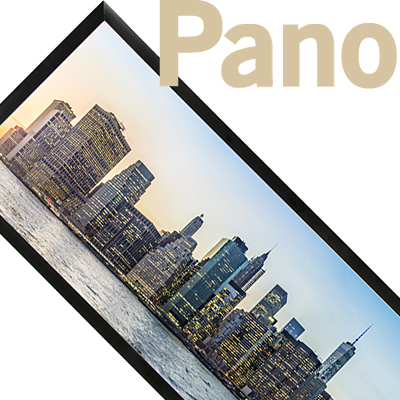Wide format picture frames for panoramic photos