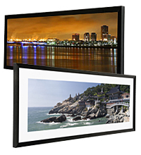 wide format frames for panoramic images