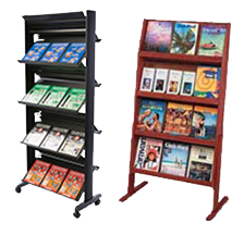 racks for brochures & pamphlets