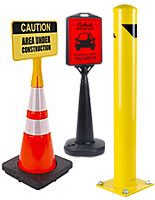 Parking lot supplies and safety equipment