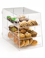 This countertop pastry display case helps to increase impulse purchases.