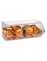 Use this countertop acrylic pastry display to showcase small bakery items.